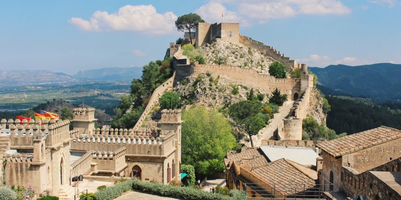 Map Of Xativa Spain.Undiscovered Spain The Jativa Castle