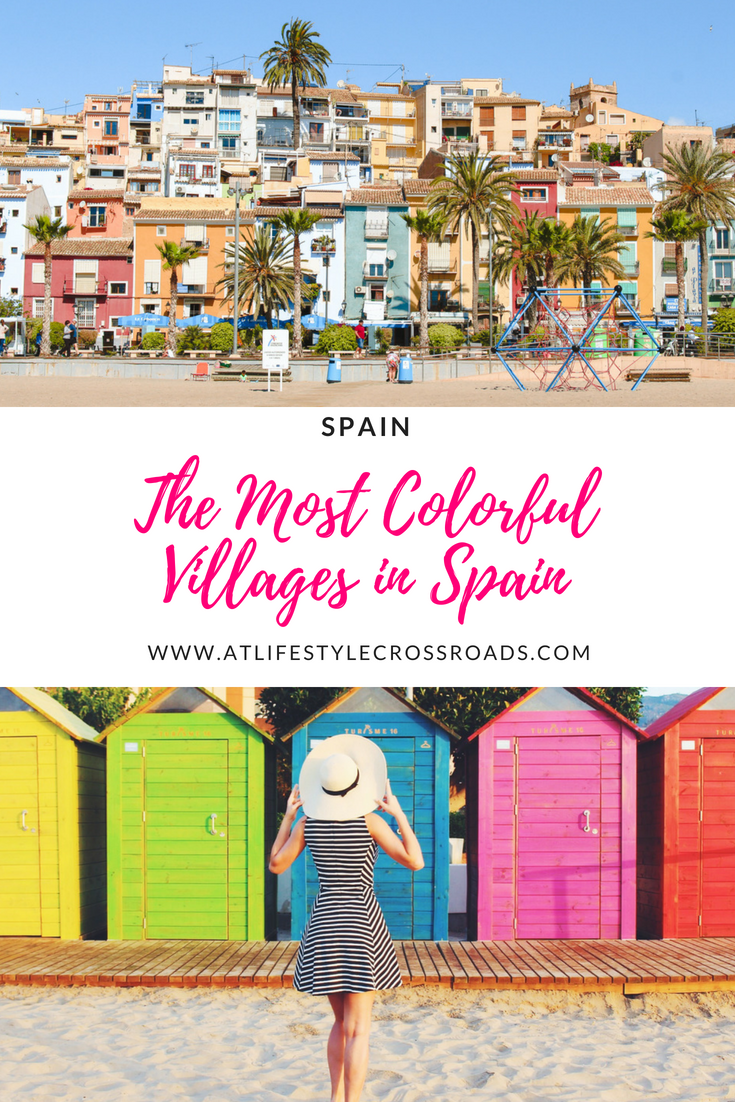 The Most Colorful Villages in Spain #spain #travel #villages #europe #destinations #portsaplaya #villajoyosa #alicante #Hondarribia #cudillero #asturias #andalusia #juzcar #orotava #tenefife #colors #colorful