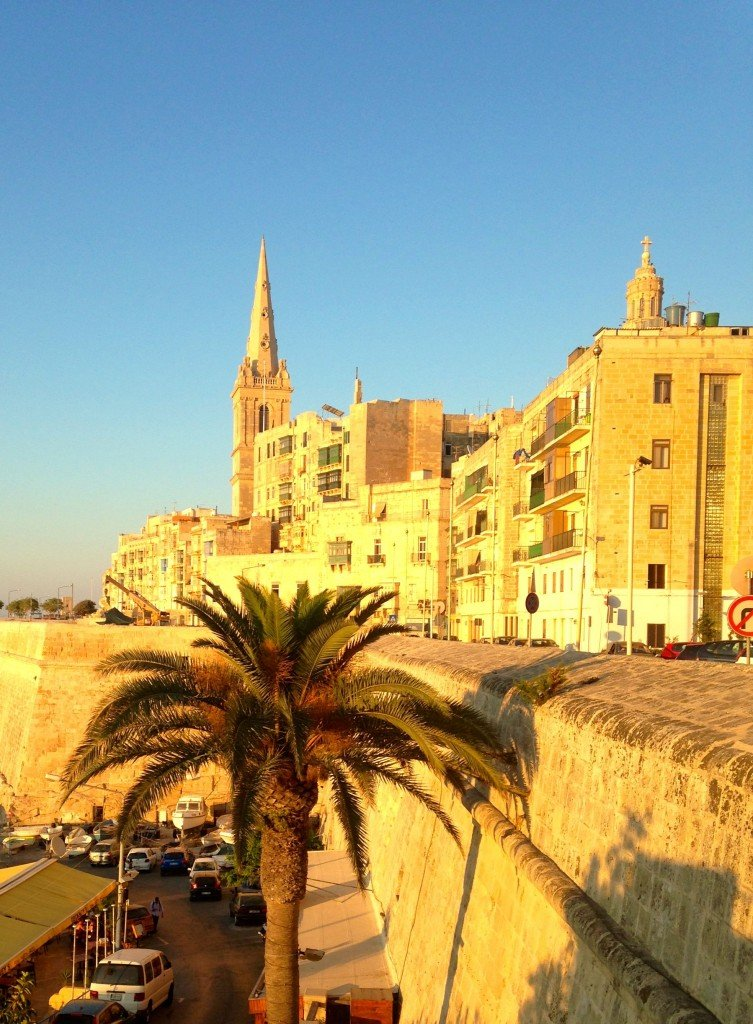Valetta in the sunset light