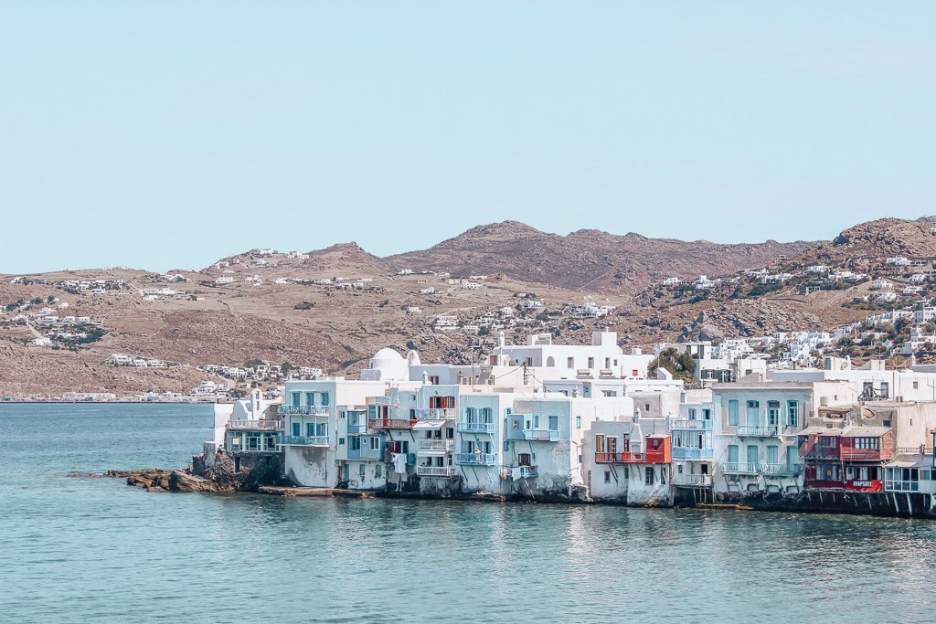 Mykonos houses, Greece