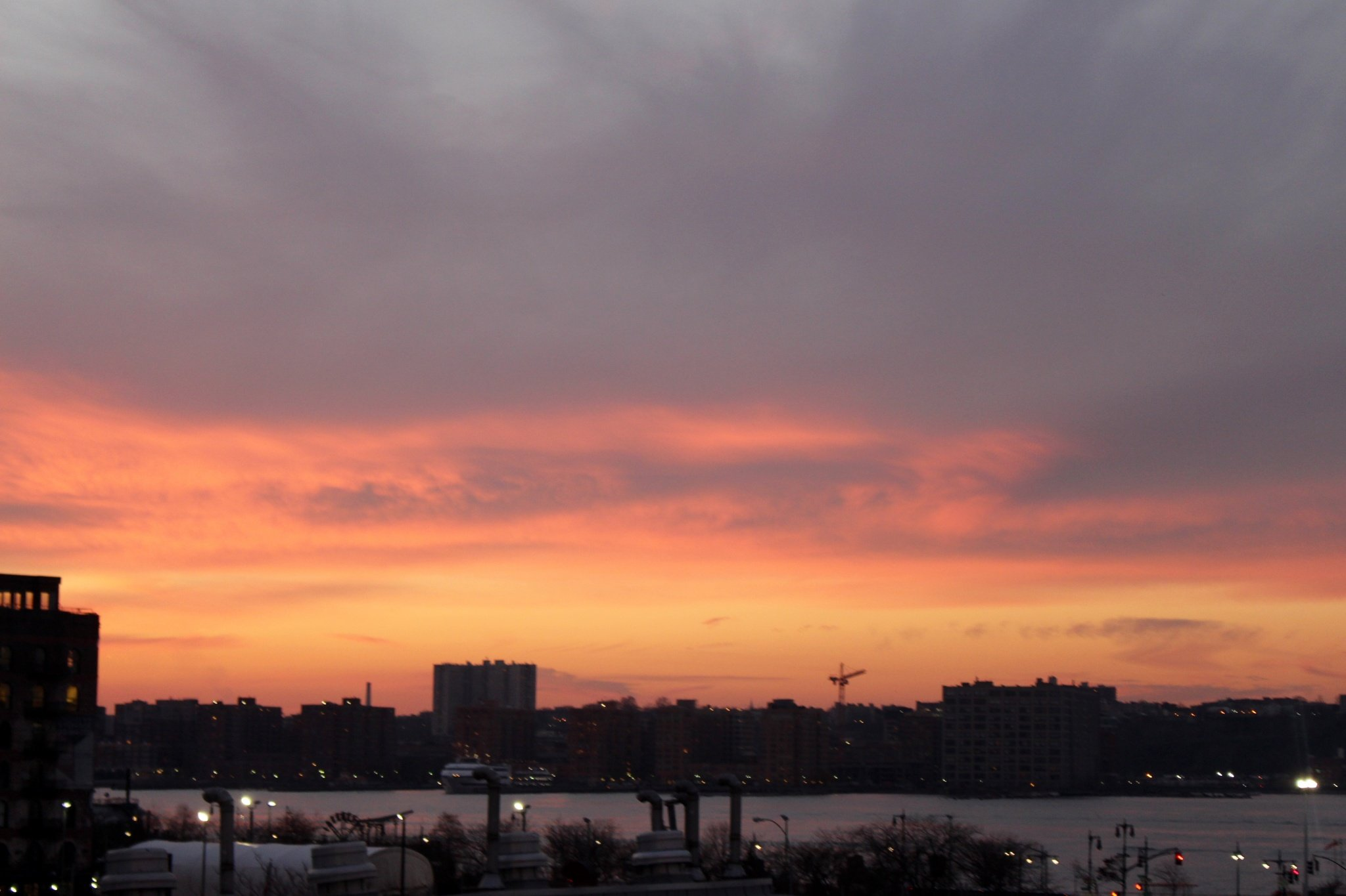 sunset from The High Line in New York