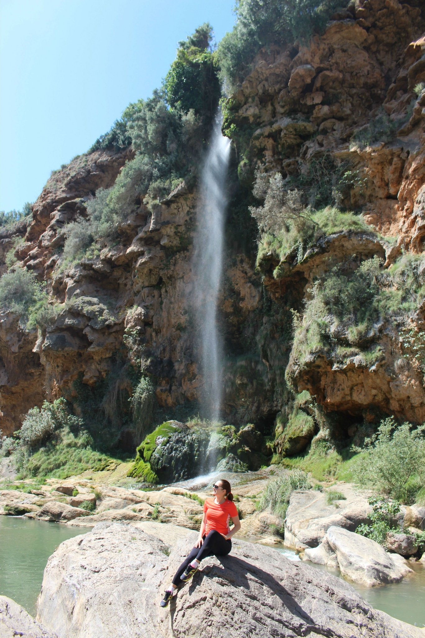 A waterfall in Navajas, near Valencia, Spain