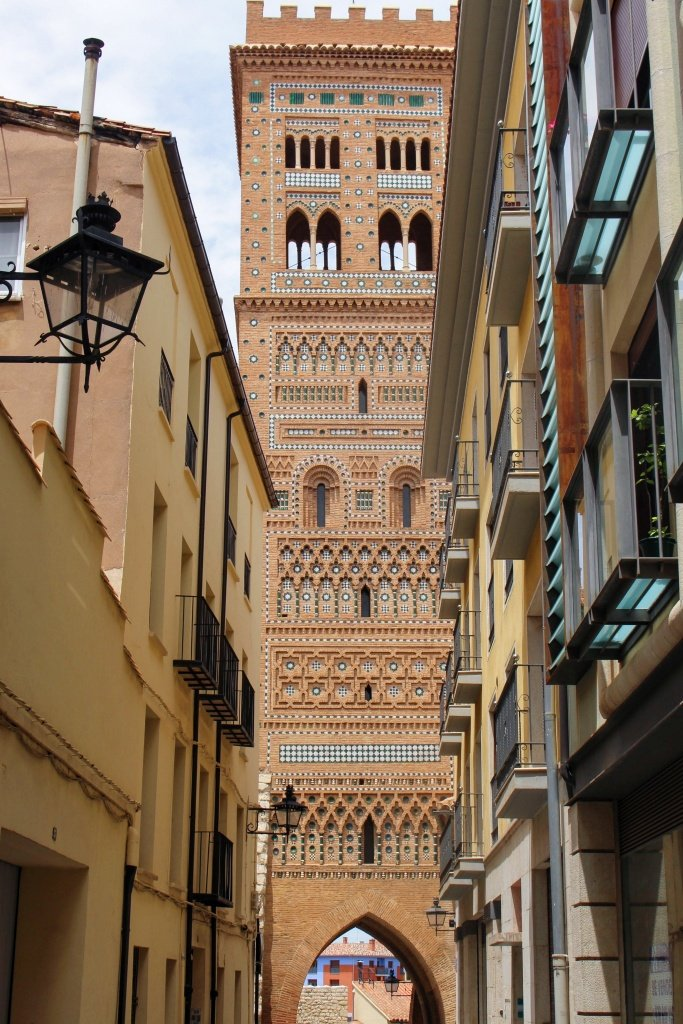 Mudejar architecture - El Salvador Tower in Teruel, Spain