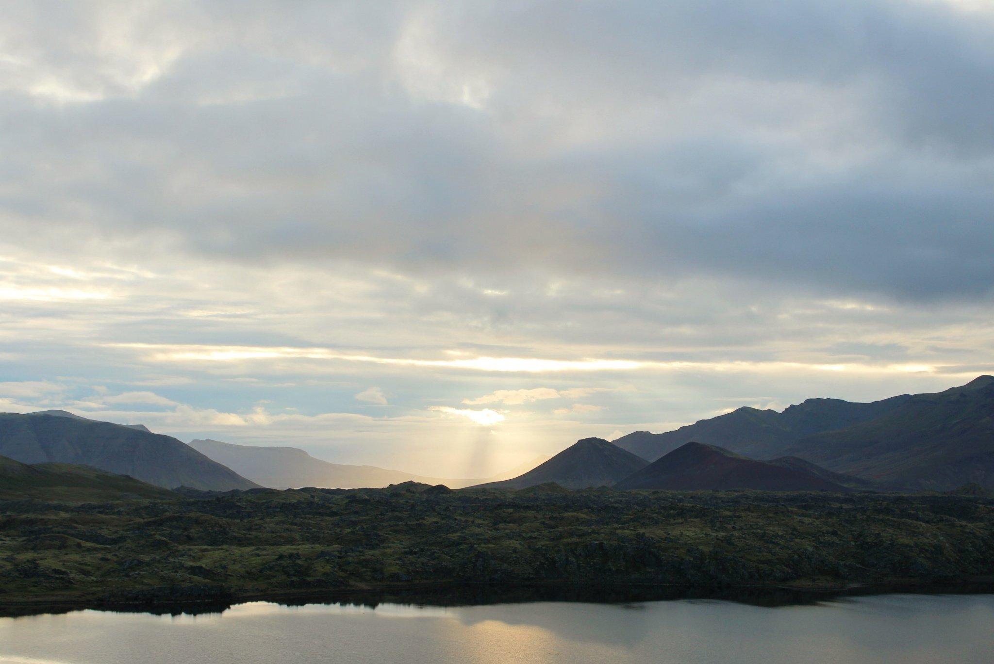 golden sunset in Iceland