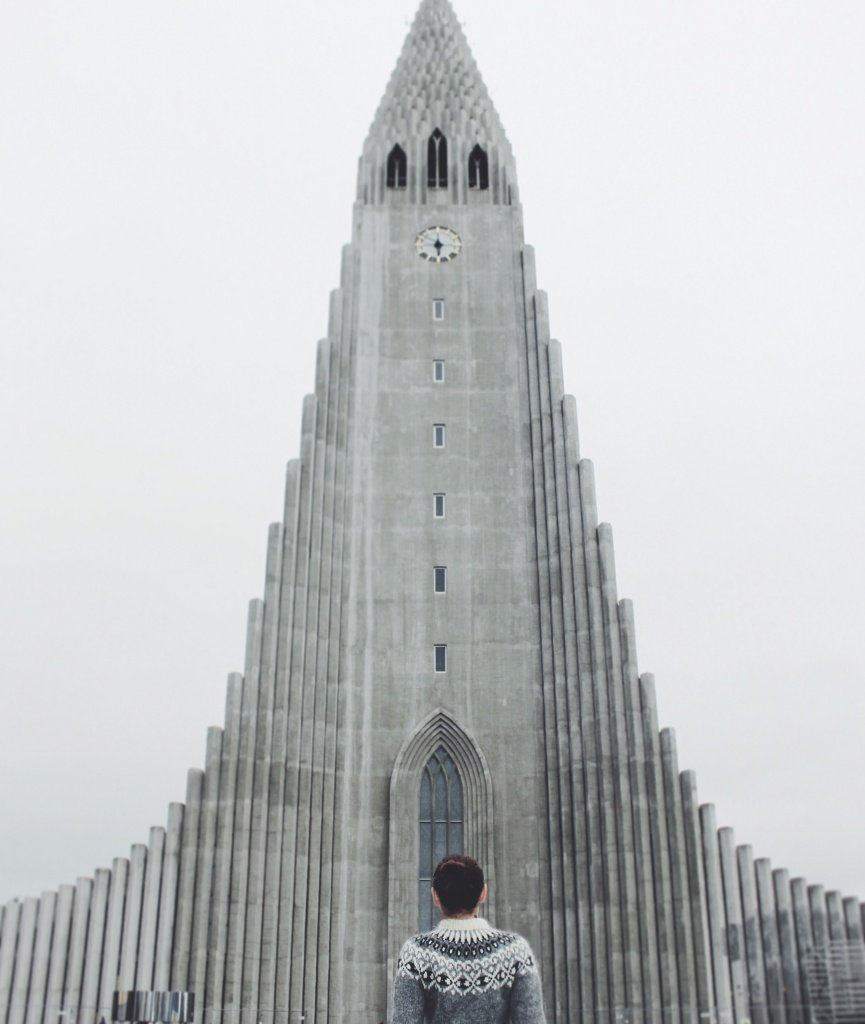 Hallgrímskirkja church in Reykjavík, Iceland