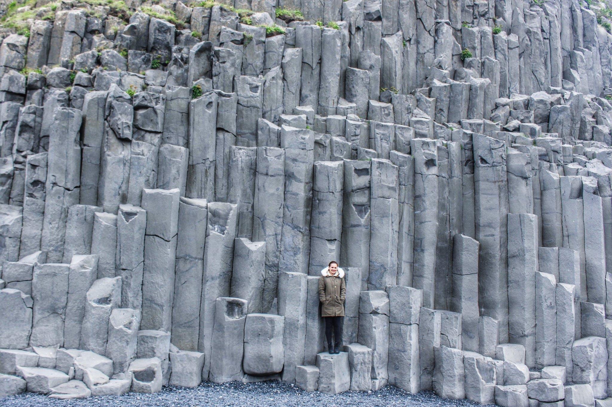 Reinisfjara black sand beach in Iceland