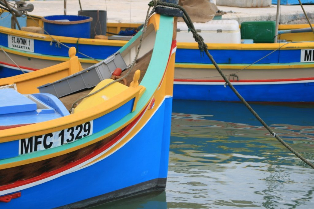 Colorful boats - Expat in Malta Travel Story