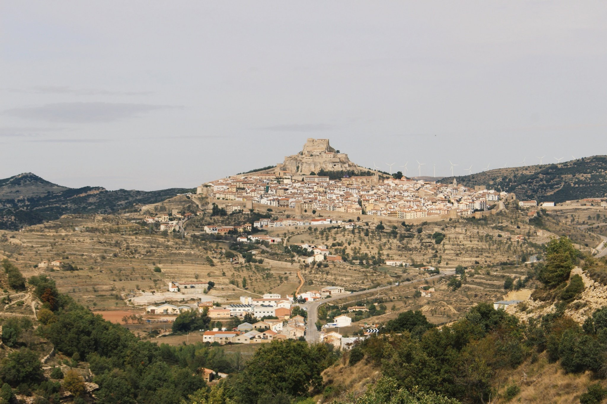 Visiting fairytale town and castle of Morella in the province of Castellon Spain
