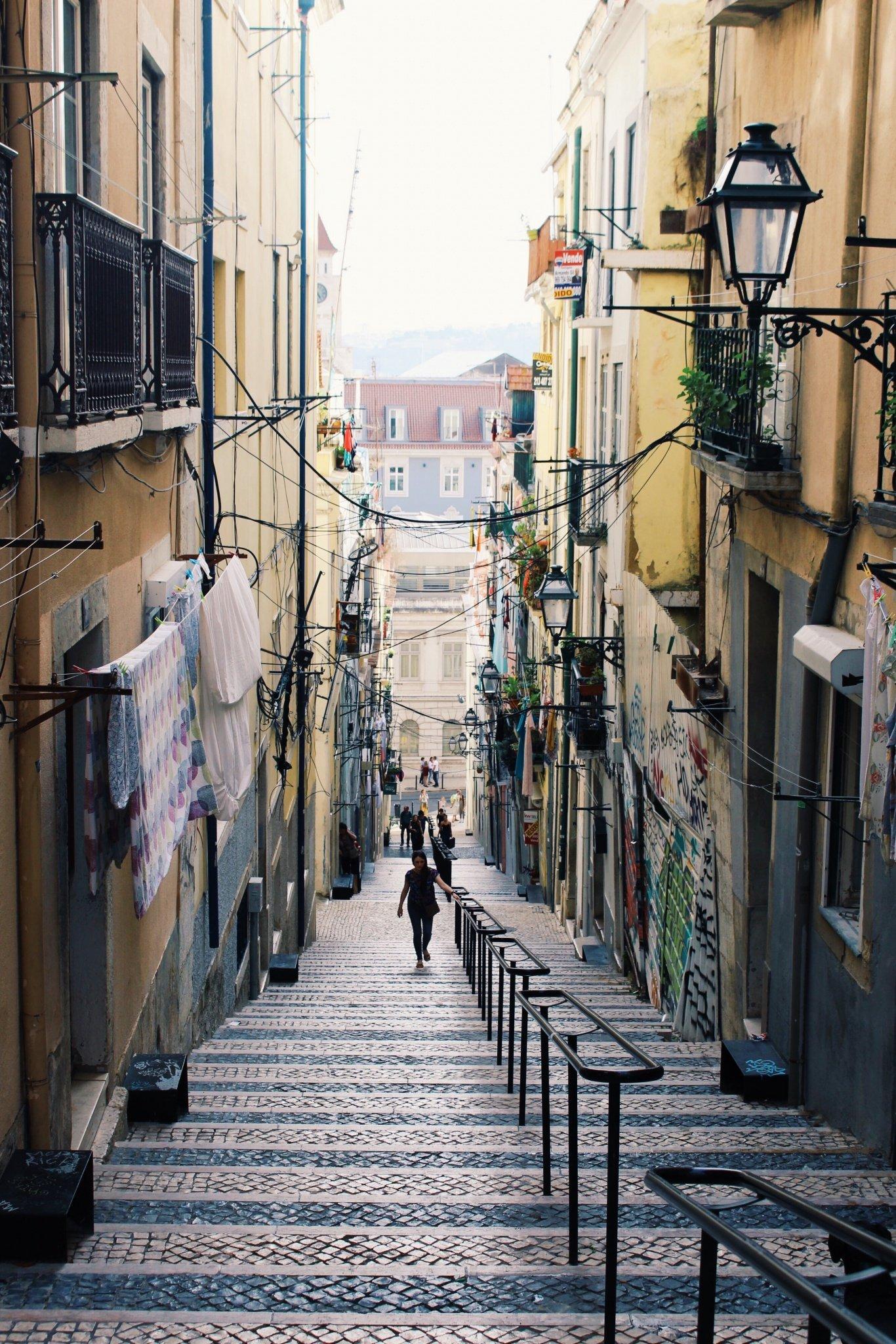 Bairro alto in in Lisbon, Porugal