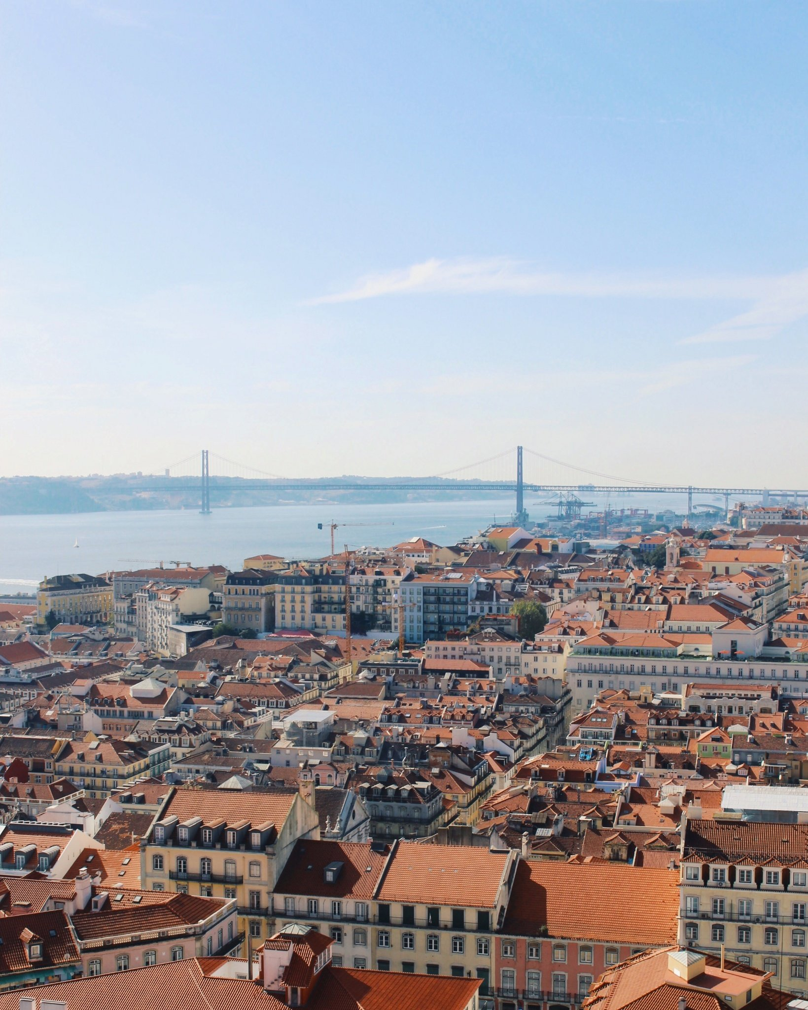Beautiful views from São Jorge Castle in Lisbon, Portugal