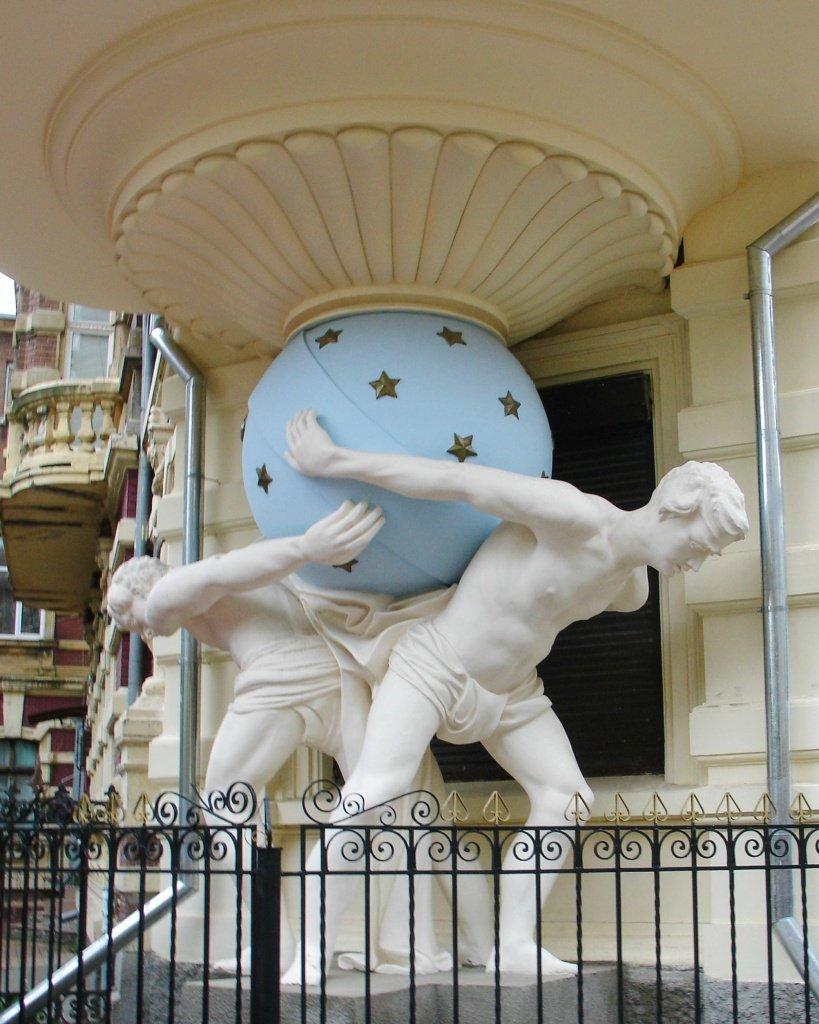 """Atlantes"" (atlas) sculptural support in Odessa"