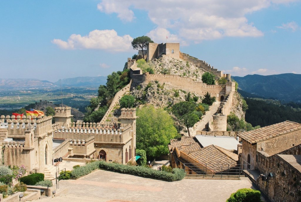 The Jativa Castle near Valencia, Spain