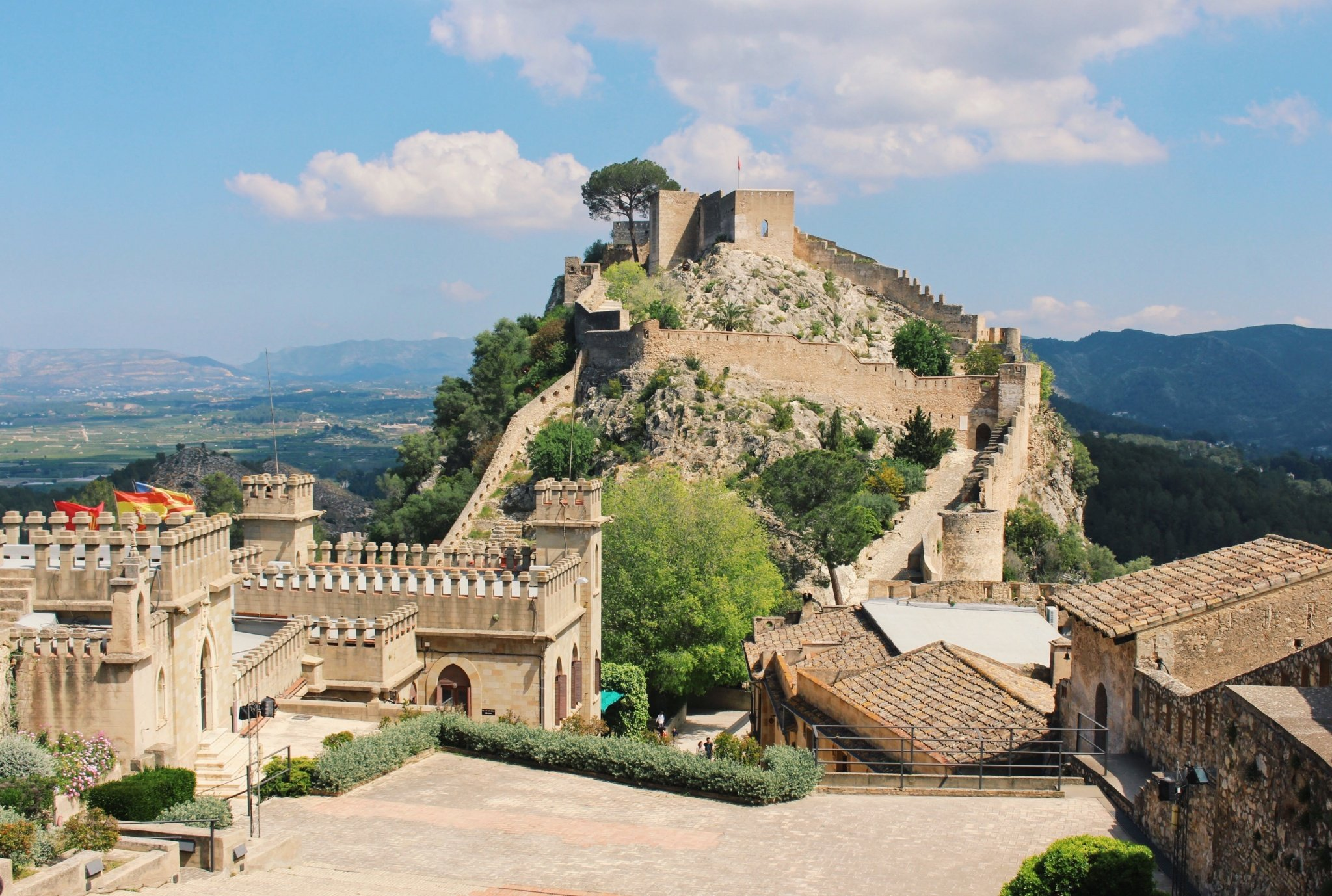 The Castle of Jativa near Valencia, Spain