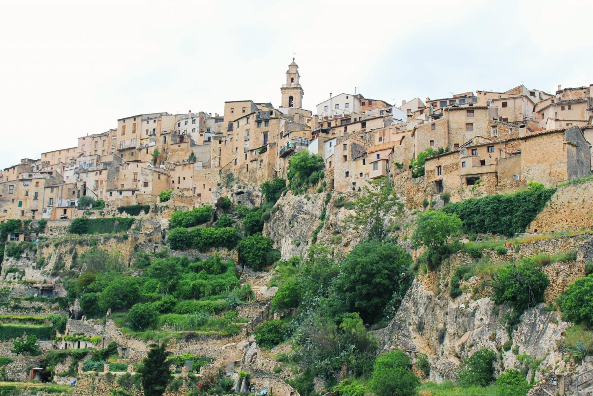The houses of Bocairente, near Valencia, Spain