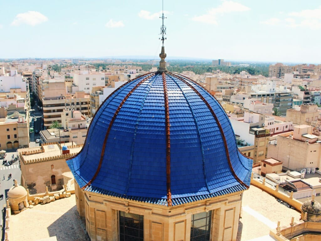 views from The Basilica of Santa Maria in Elche