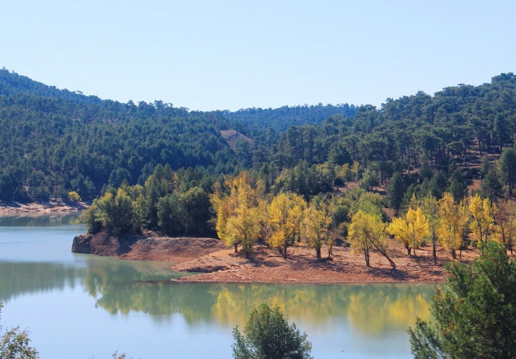 Autumn colors in the Spanish province of Cuenca in October
