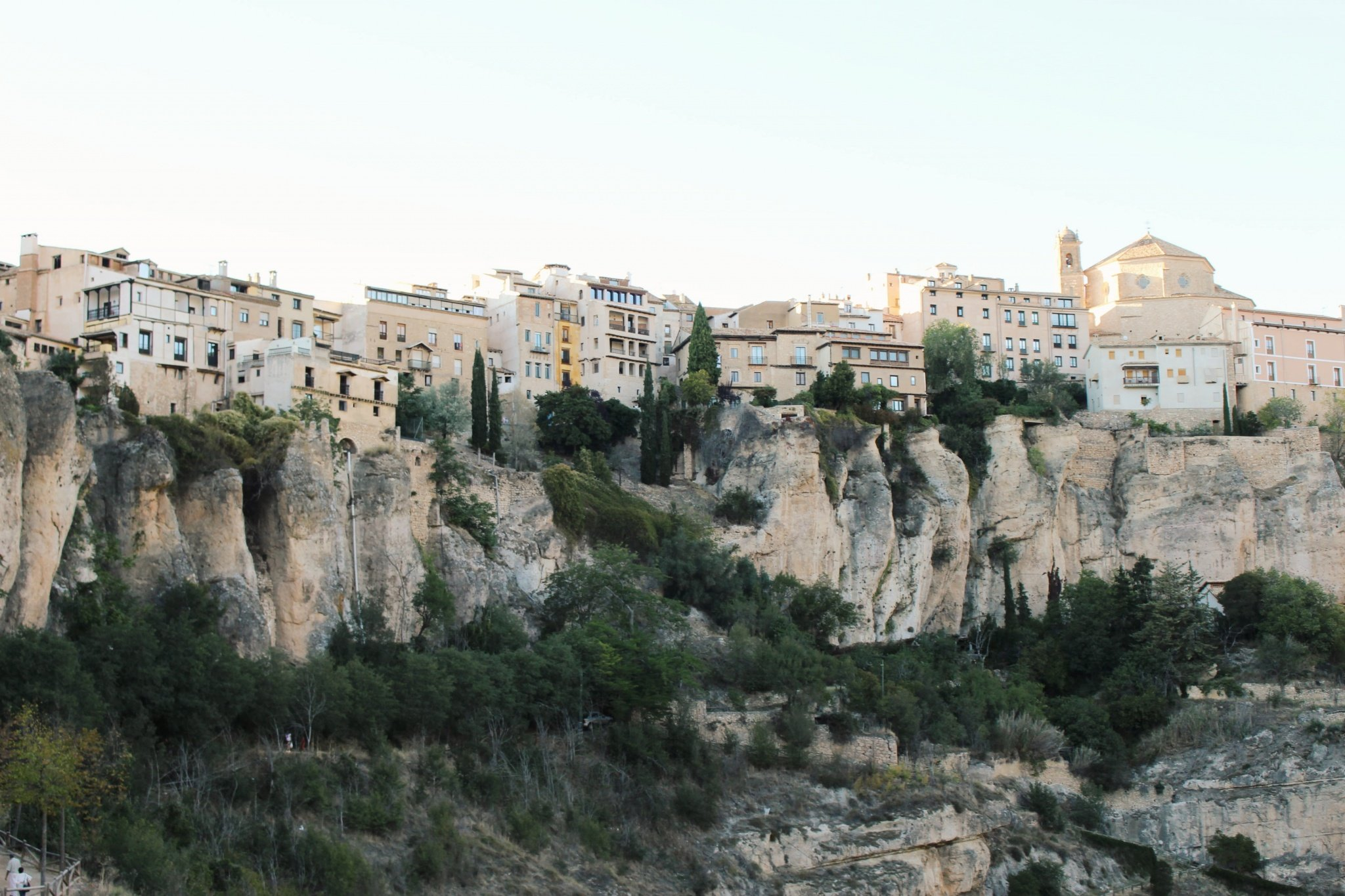 Houses and cliffs in Cuenca, Spain