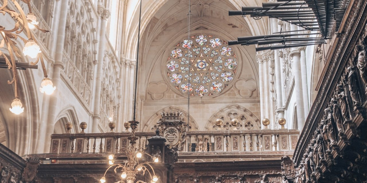 Inside the Burgos Cathedral