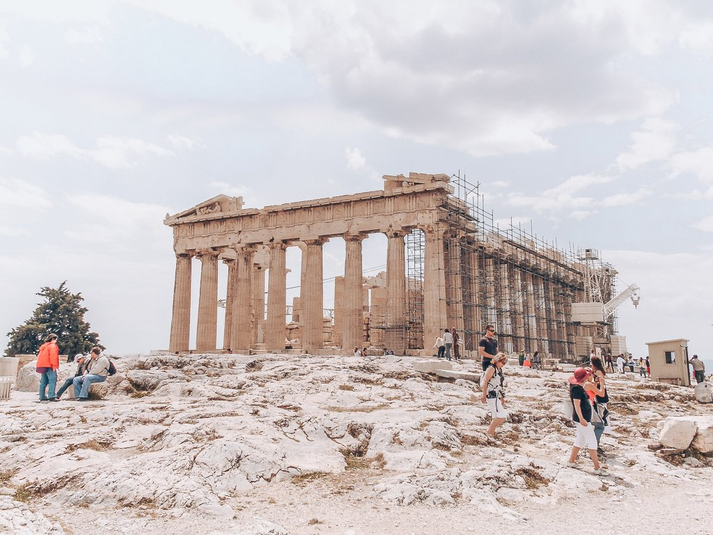 Visiting Acropolis in Athens, Greece