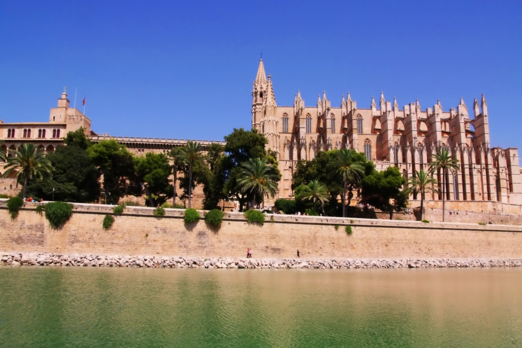 The Cathedral of Santa Maria of Palma or La Seu in Mallorca, Spain