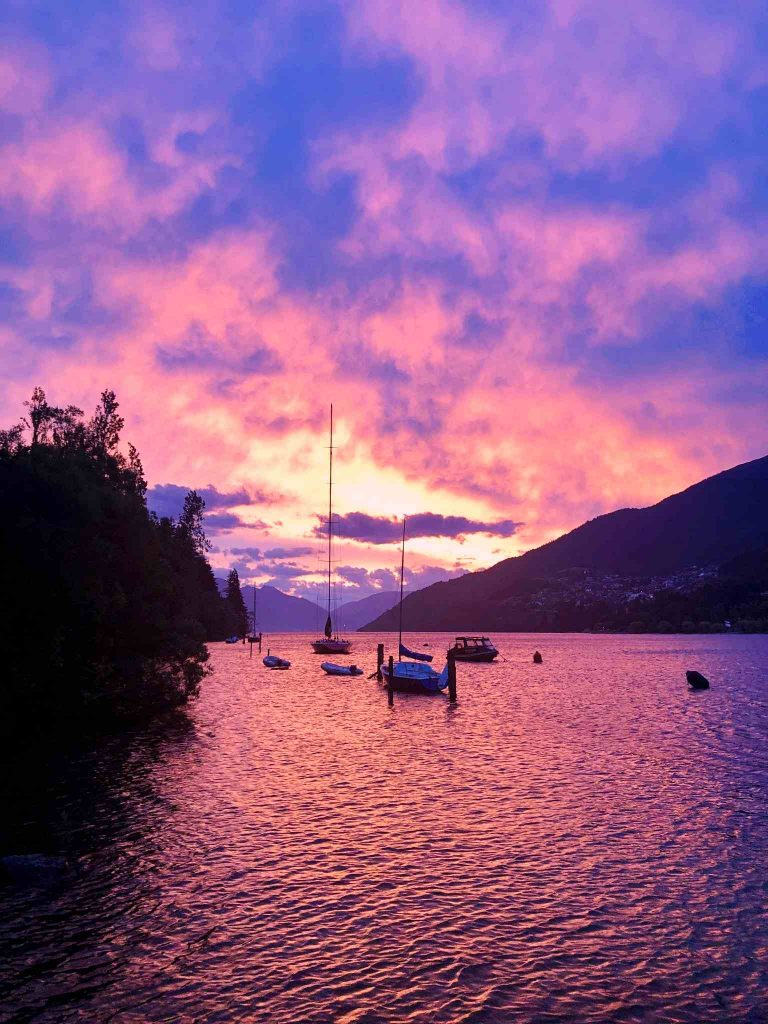 queenstown red sunset