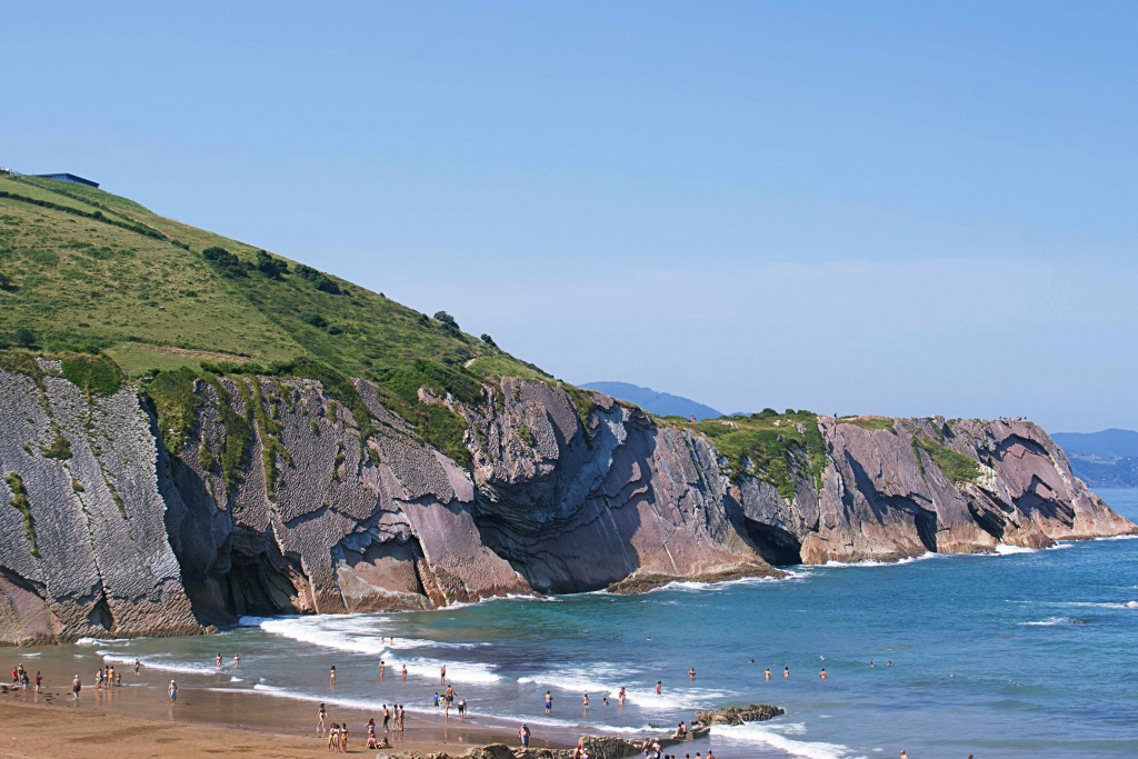 The Zumaia Beach in The Basque Country
