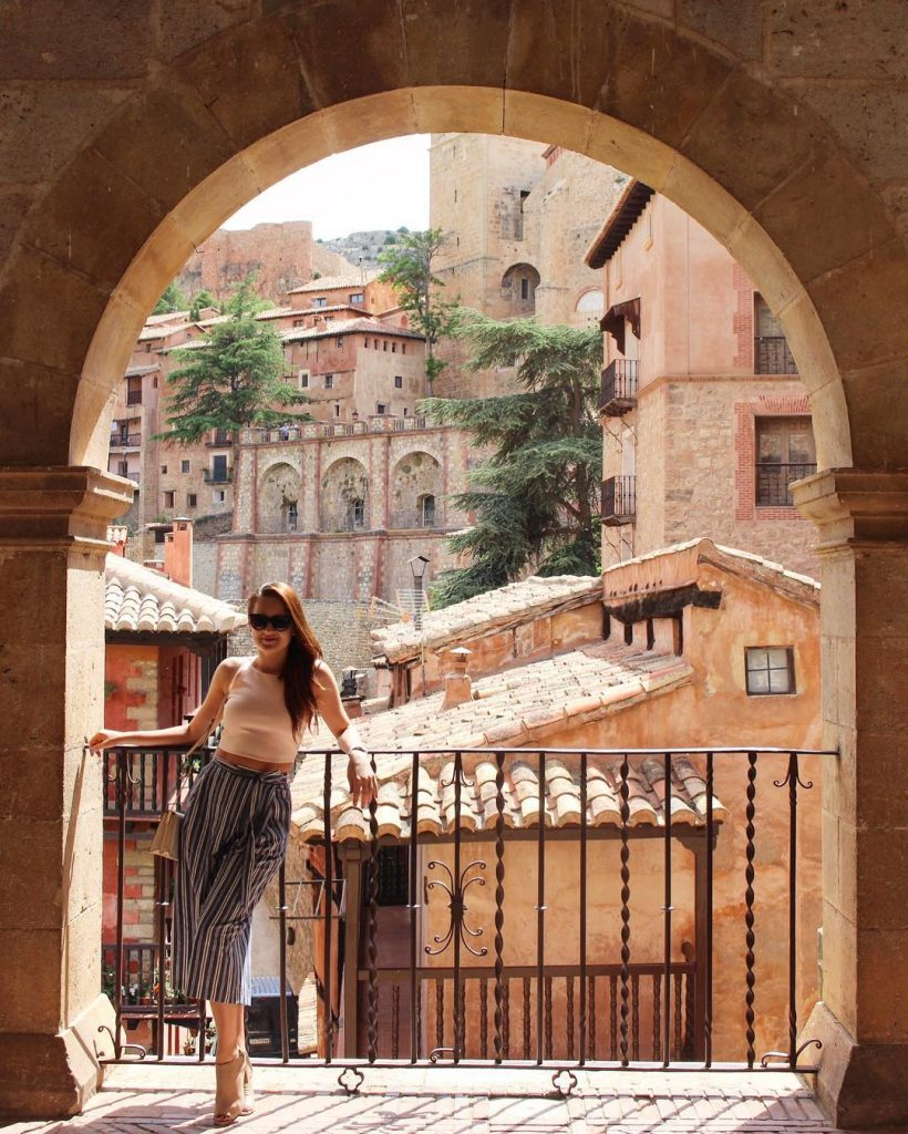 View of the medieval village of Albarracin in the Spanish province of Teruel