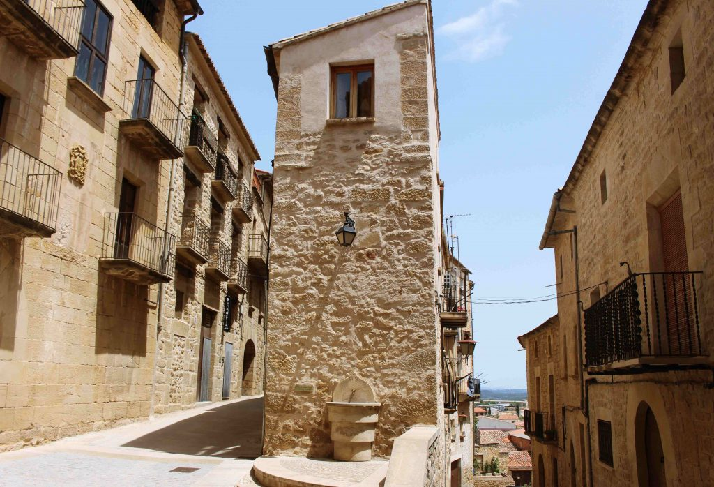 The streets of Calaceite in Teruel, Spain
