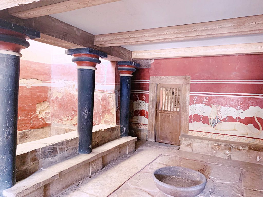 Throne Room in Knossos, Crete