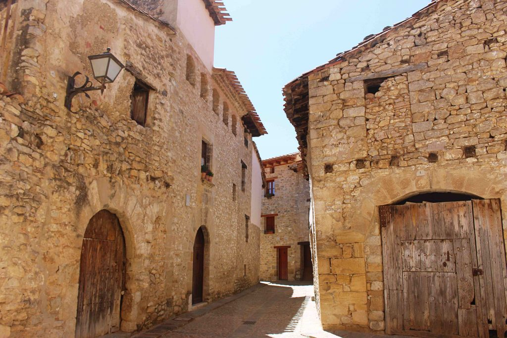 The streets of Mirambel in the province of Teruel, Spain