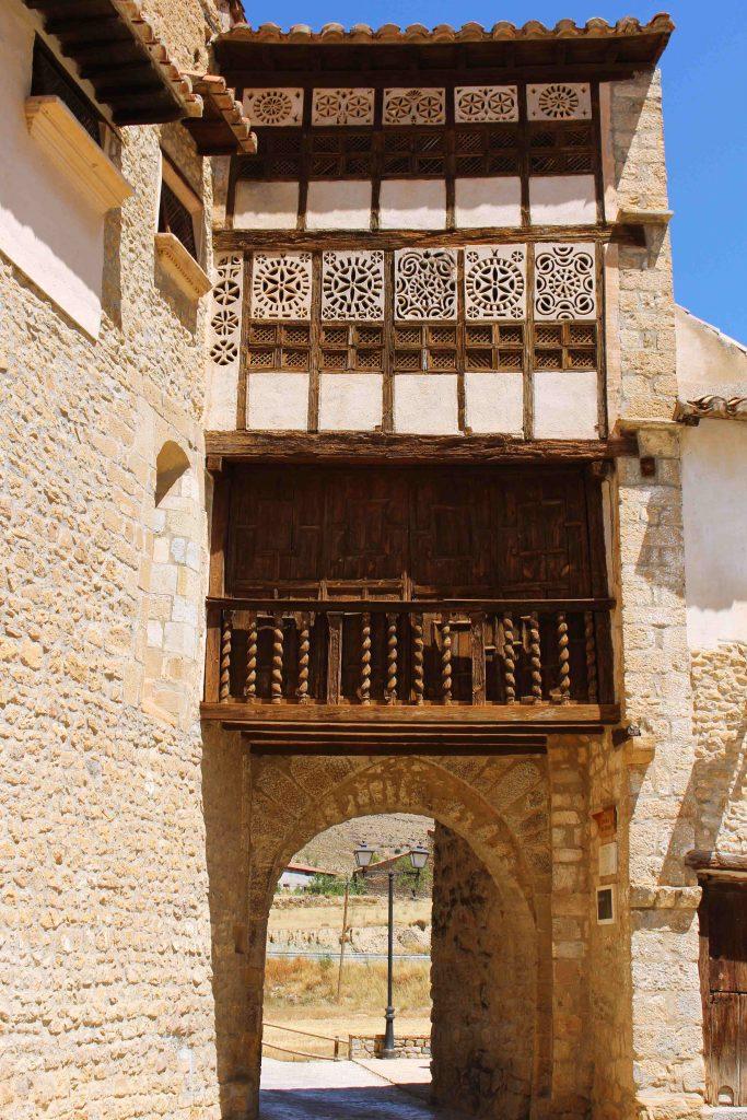 Portal de las Monjas, part of a local convent Convento Monjas Agustinas in Mirambel, Spain