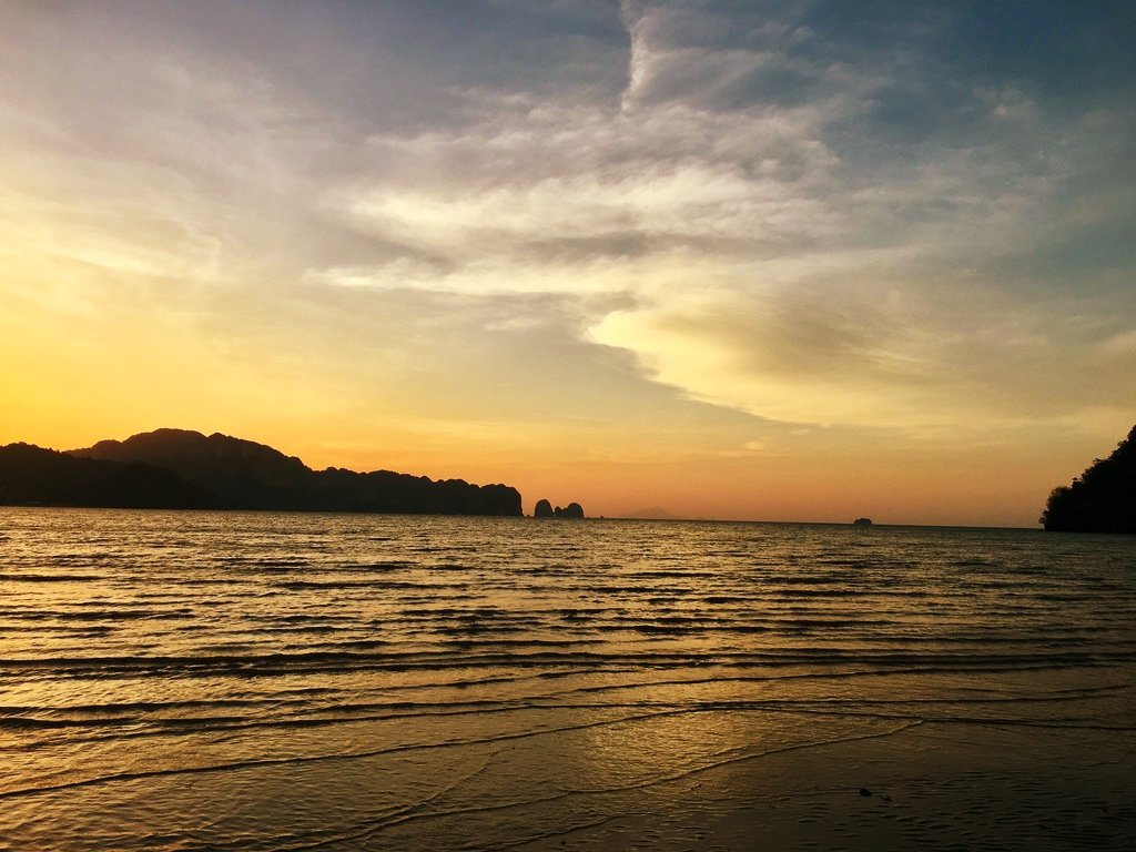 Beautiful Sunrise at Noppharat Thara Beach in Krabi, Thailand