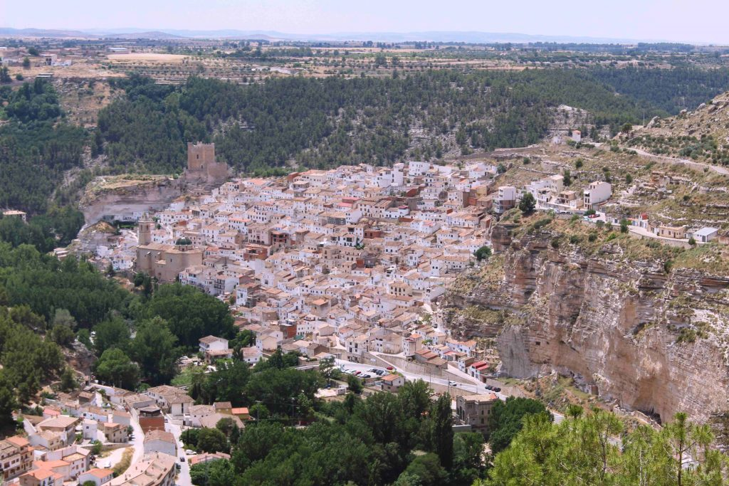 Panoramic views of Alcala de Jucar, a beautiful village in the province of Albacete