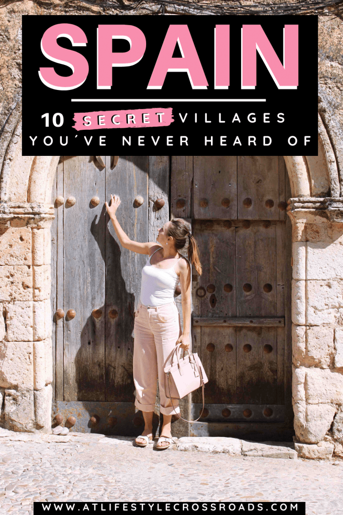 Ancient doors in Maderuelo, a secret off the beaten track village in Spain