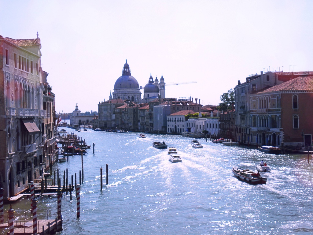 Panoramic views of Venice in Italy