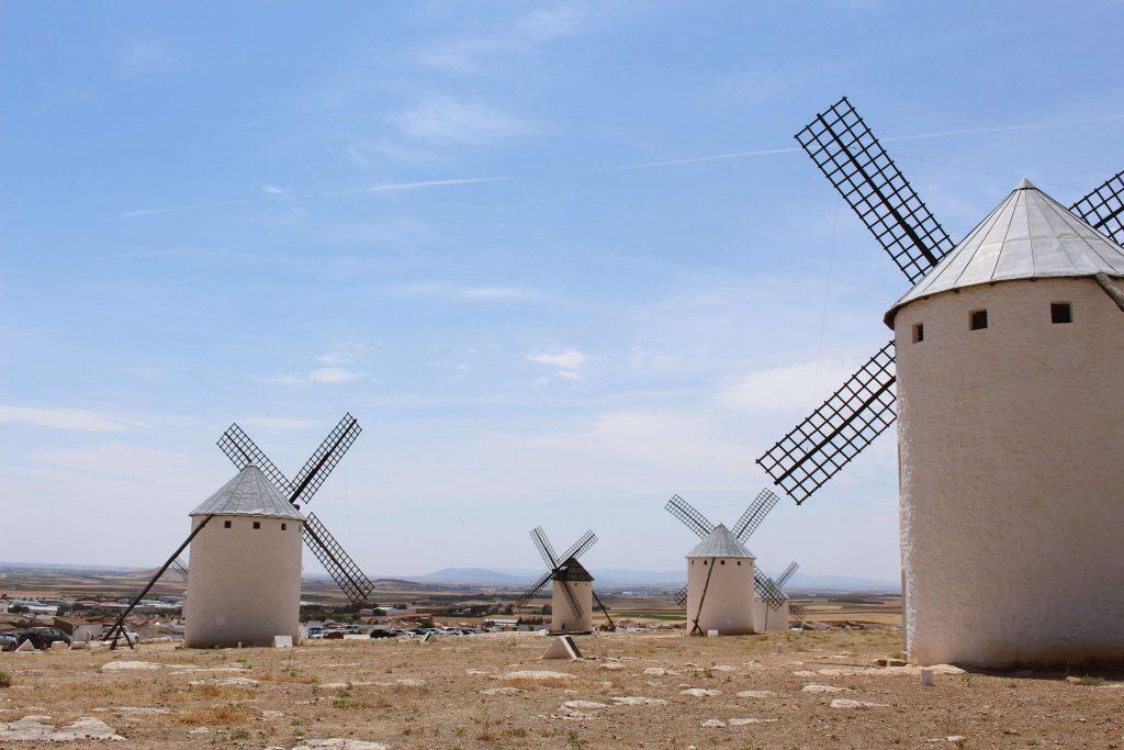 Don quijote mills in Castile-La Mancha, Spain