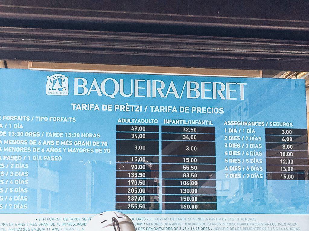 Skiing in Baqueira Beret Spain