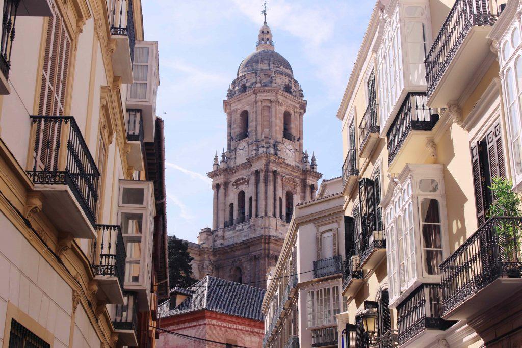 streets of Malaga Andalusia Spain