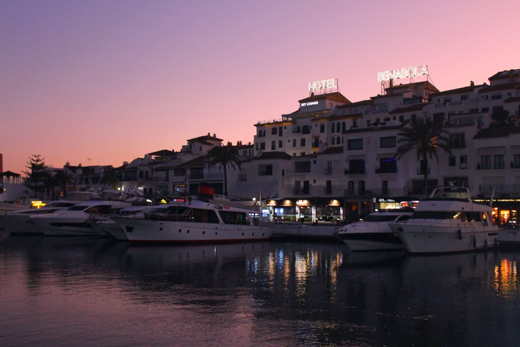 Puerto Banus at sunset